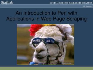An Introduction to Perl with Applications in Web Page Scraping