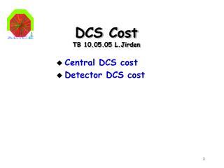 DCS Cost TB 10.05.05 L.Jirden