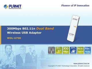 300Mbps 802.11n  Dual Band Wireless USB Adapter