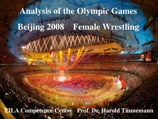 Analysis of the Olympic Games  Beijing 2008    Female Wrestling