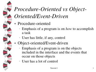 Procedure-Oriented vs Object-Oriented