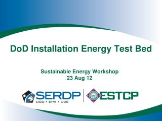 DoD Installation Energy Test Bed