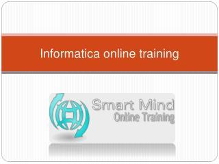 Informatica online training | Online Informatica Training in