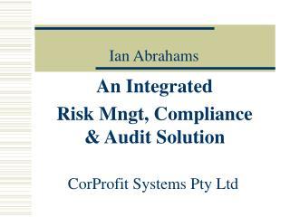 Ian Abrahams