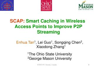 SCAP:  Smart Caching in Wireless Access Points to Improve P2P Streaming