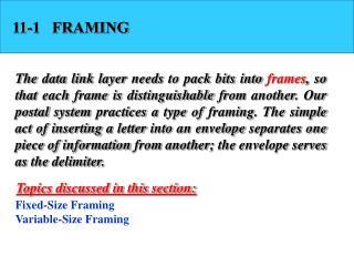 11-1   FRAMING