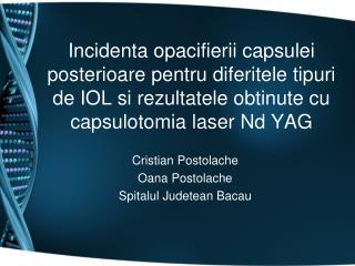 Cristian Postolache Oana Postolache Spitalul Judetean Bacau
