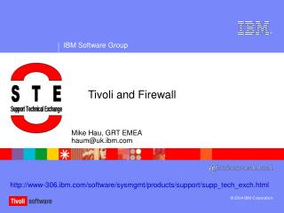 Tivoli and Firewall