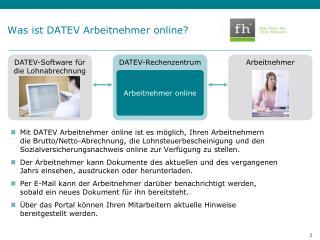 Was ist DATEV  Arbeitnehmer  online?