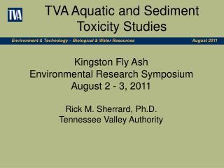 TVA Aquatic and Sediment Toxicity Studies