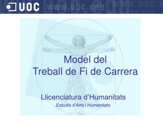 Model del  Treball de Fi de Carrera