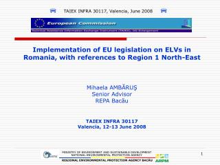 TAIEX INFRA 30117 Valencia, 12-13 June 2008