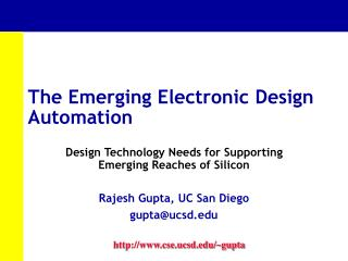 The Emerging Electronic Design Automation