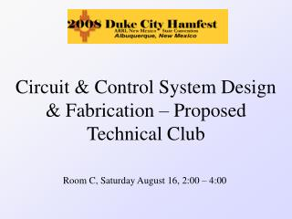 Circuit & Control System Design & Fabrication – Proposed Technical Club