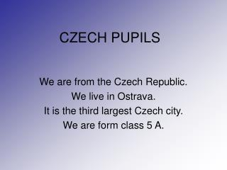 CZECH PUPILS
