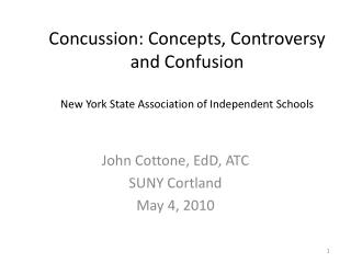 Concussion: Concepts, Controversy and Confusion New York State Association of Independent Schools