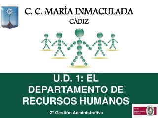 U.D. 1: EL DEPARTAMENTO DE RECURSOS HUMANOS