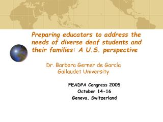 FEADPA Congress 2005 October 14-16 Geneva, Switzerland