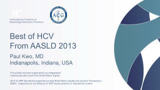 Best of HCV From AASLD  2013