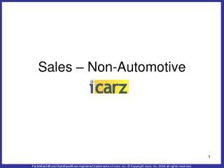Sales – Non-Automotive