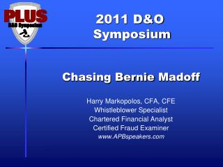Chasing Bernie  Madoff