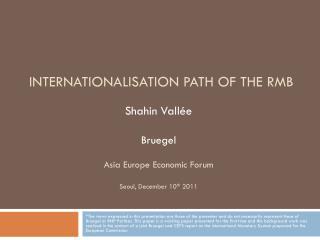 Shahin Vallée  Bruegel Asia Europe Economic Forum Seoul, December 10 th  2011