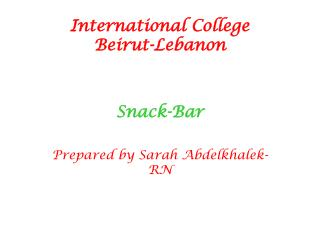 International College Beirut-Lebanon