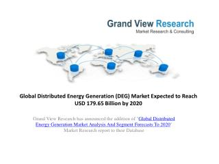 Distributed Energy Generation Market Report to 2020
