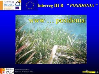 Interreg III B''  POSIDONIA ''