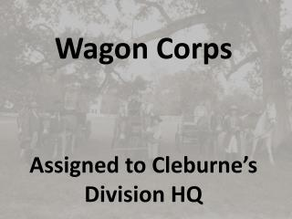 Assigned to Cleburne's Division HQ