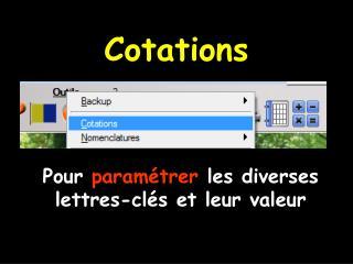 Cotations