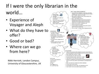 If I were the only librarian in the world…
