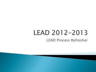 LEAD 2012-2013