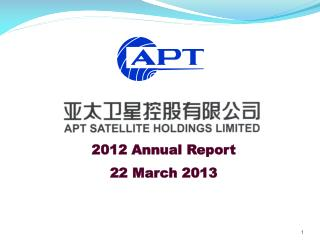 2012 Annual Report 22 March 2013