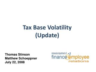 Tax Base Volatility (Update)