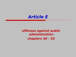 Article E