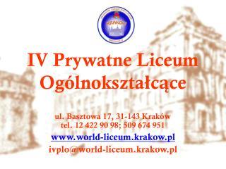IV Prywatne Liceum Ogólnokształcące