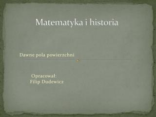 Matematyka i historia