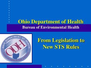 Ohio Department of Health Bureau of Environmental Health