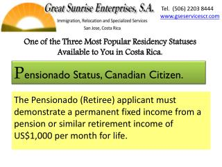One of the  T hree  M ost Popular Residency Statuses  A vailable to You in Costa Rica.