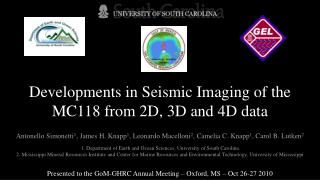 Developments in Seismic Imaging of the MC118 from 2D, 3D and 4D data