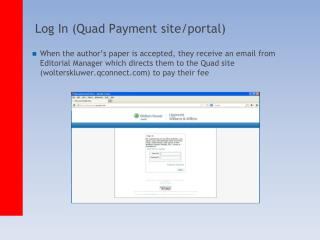 Log In (Quad Payment site/portal)