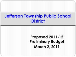 Jefferson Township Public School District