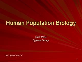 Human Population Biology