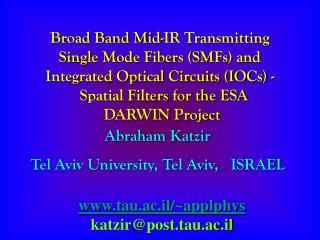 Broad Band Mid-IR Transmitting