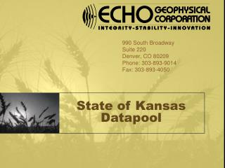 State of Kansas Datapool