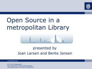 Open Source in a metropolitan Library