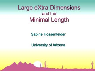 Large eXtra Dimensions and the Minimal Length