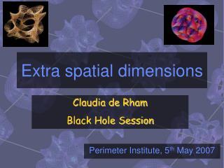 Extra spatial dimensions