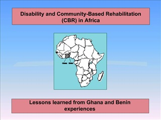 Disability and Community-Based Rehabilitation CBR in Africa